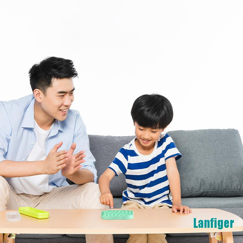 【Lanfiger】1Pcs Push Bubble Sensory Toy Autism Needs Stress Reliever Toys Adult Kid Funny