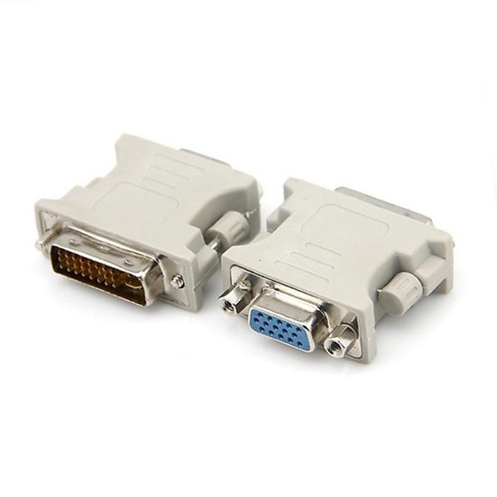Đầu chuyển đổi cổng DVI sang VGA dùng cho máy tính pc laptop máy chiếu màn hình LCD youngcityshop 30.000
