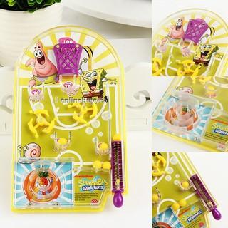 Cartoon Mini Basketball Pinball Spring Game Toy Handheld Kids Toy Gift-_ giá thật rẻ mã M2016