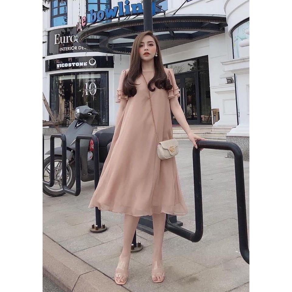 [Mã FATHANG5 giảm 10K đơn 50K]  K] Váy bầu dự tiệc đẹp 🍅 FREESHIP 🍅 váy hồng đất