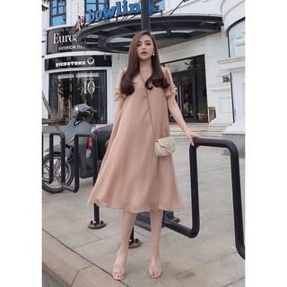 [Mã SKAMA06 giảm 8% tối đa 50K đơn 250K] Váy bầu dự tiệc đẹp 🍅 FREESHIP 🍅 váy hồng đất xinh