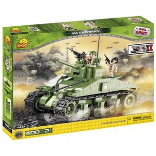 Đồ chơi lắp ráp Lego xe bánh xích – xe tăng – Tank M4 COBI-2443 (used)