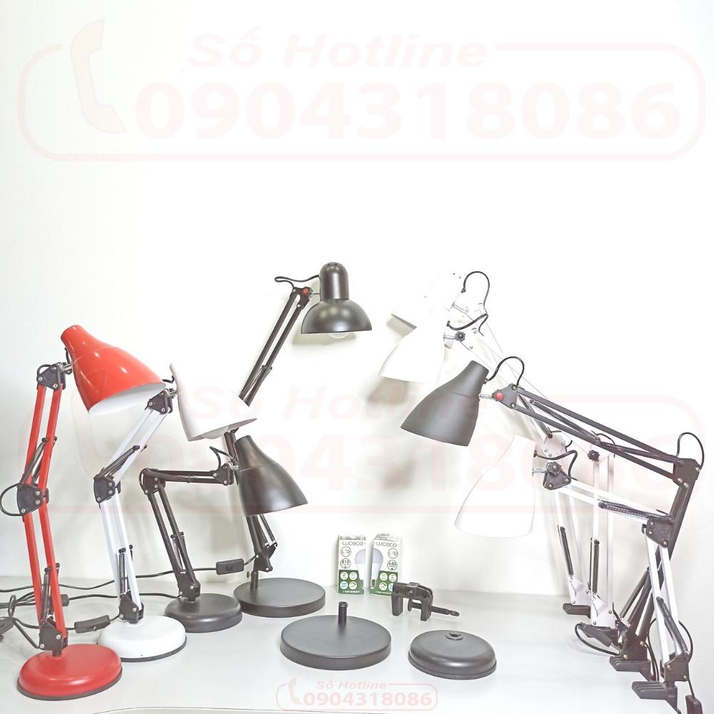 Đèn Bàn Học Kẹp & Để Bàn Đa Năng PIXAR - LED LUCECO UK Chống Cận Chao Vát  Liền Chao Tròn Cỡ Lớn Nhỏ ( Bảo hành 2 Năm) - Đèn bàn