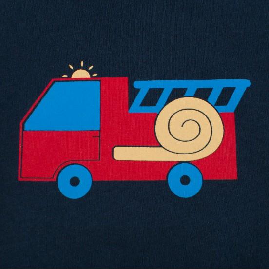 Áo bé trai 27KIDS áo thun cho bé in hình xe ngộ nghĩnh chất cotton hàng xuất Âu Mỹ 100% cotton