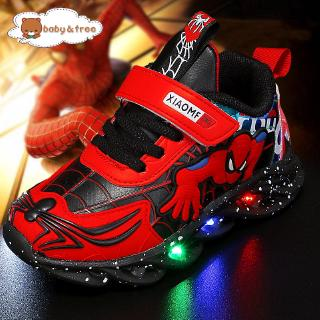 Giày thể thao có đèn LED họa tiết Spiderman thời trang L6256