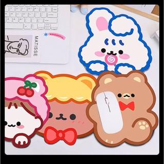Lót chuột laptop hình gấu thỏ sắc màu cực đáng yêu - Phụ kiện máy tính đẹp gía rẻ