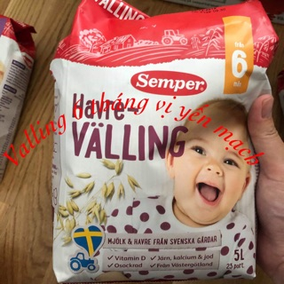 Sữa ngũ cốc VALLING SEMPER giúp bé no lâu ngủ ngon