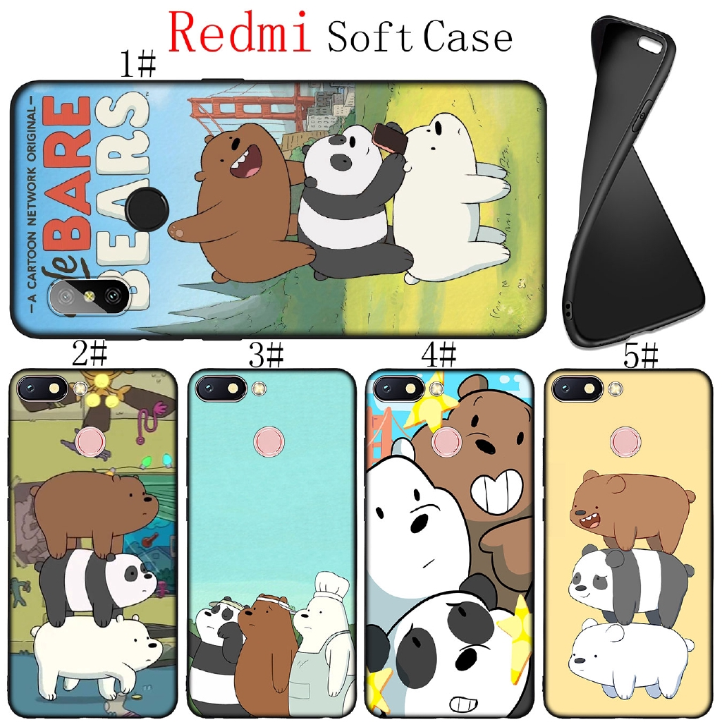 Xiaomi Redmi K20 5A 4A 4X S2 Note 5 Pro Soft Silicone Phone Case we bear bears funny Black Cover