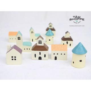 Mô hình nhà mini chằn giấy