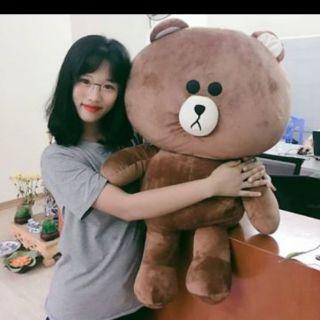 ( Rẻ vô địch ) Gấu bông Brown cao cấp khổ vải 1M