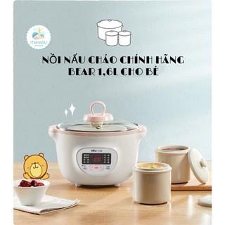 (TẶNG BẢNG ĐK TIẾNG VIỆT) Nồi ninh hầm nấu cháo Bear 1,6l kèm thố sứ cho bé (có thể vừa nấu vừa hấp)
