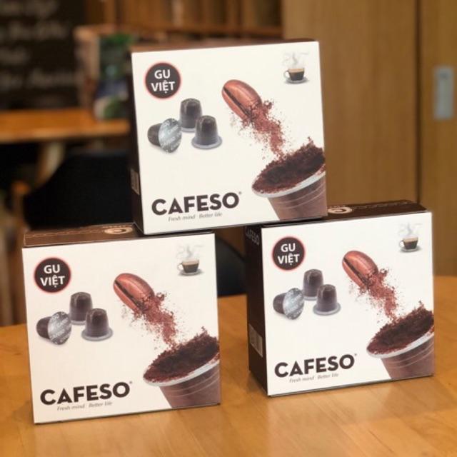 [HỘP 50 VIÊN] Cà phê viên nén (CAPSULE) CAFESO 100% nguyên chất.