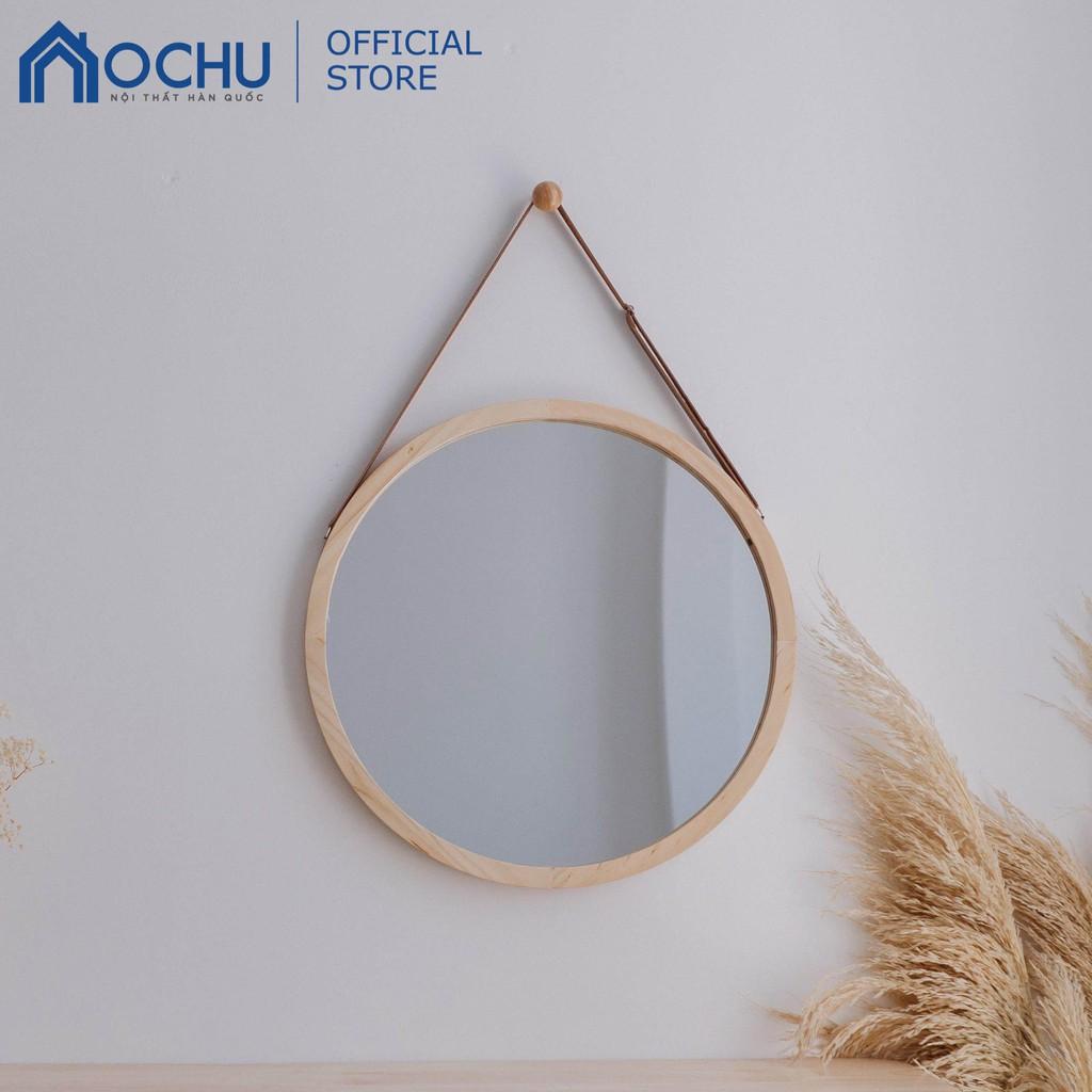 [Mã HLBEST1111 giảm 15% đơn 99K] Gương Tròn Treo Tường Khung Gỗ OCHU - Mirror Circle 50 - Natural