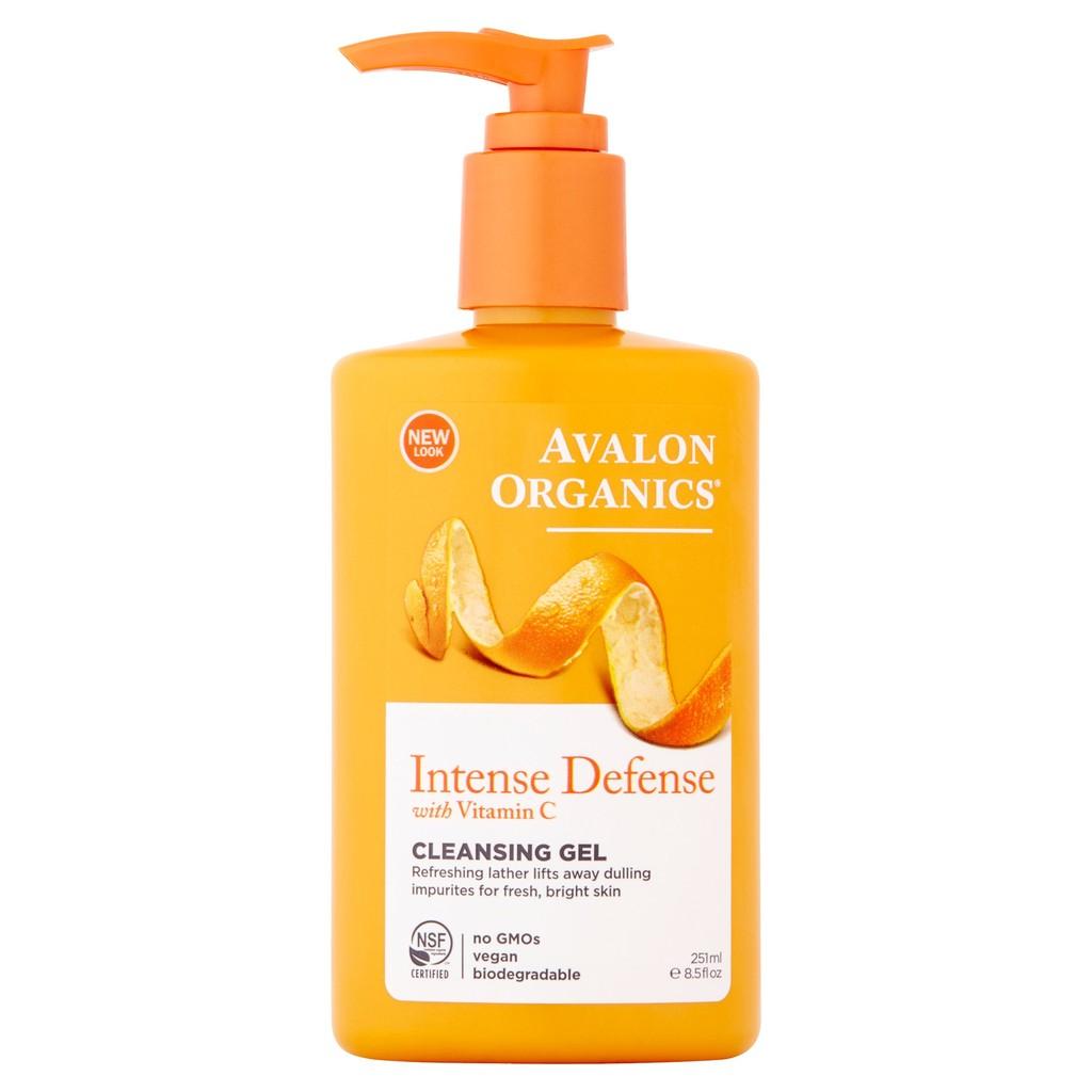 Gel rửa mặt làm trắng da hữu cơ Avalon Organics 251ml