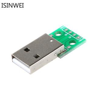 10pcs USB Male to DIP 2.54MM 4P DIP Adapter Board USB Adapter Plate