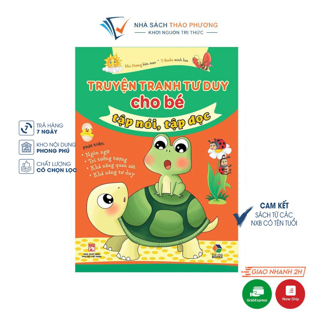 [Mã LIFEHOT55 giảm 10% đơn 99K] Sách - Truyện tranh tư duy cho bé tập nói, tập đọc
