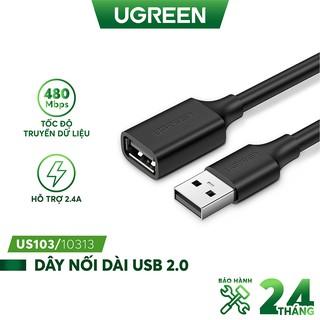 Dây USB 2.0 nối dài UGREEN dùng cho PC, Laptop, Macbook - UGREEN US103
