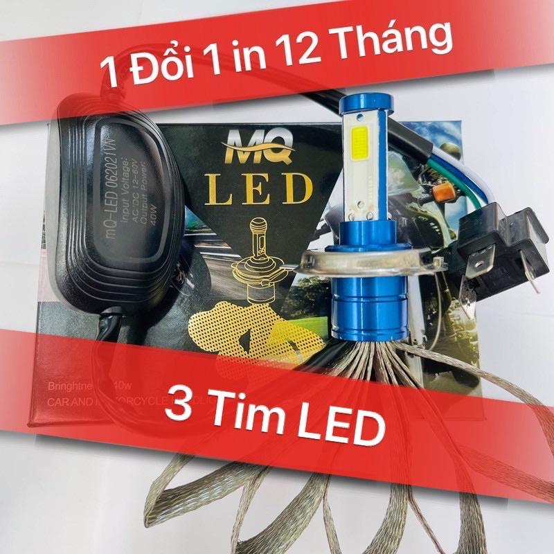 🔥ĐÈN PHA LED CYT 2 TIM LED H4🔥 (GIÁ 1 BÓNG)