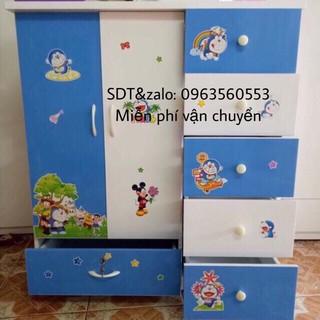 Tủ quần áo trẻ em freeship nhựa đài loan