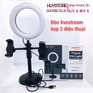 Đèn livestream để bàn, gậy livestream có đèn hỗ trợ, quay tiktok, bán hàng, make up, chụp hình HuyStore