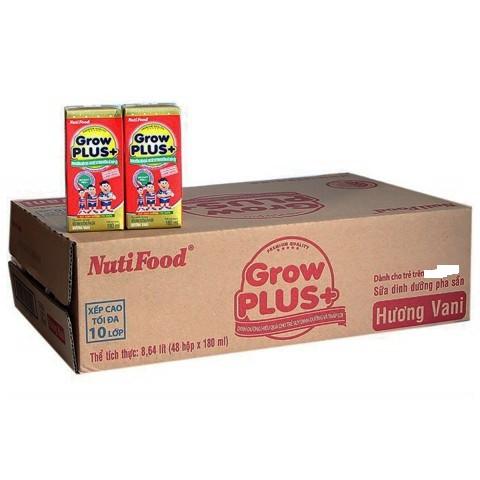 Thùng sữa bột pha sẵn NUTI GROW PLUS ĐỎ 48 hộp - 180ml