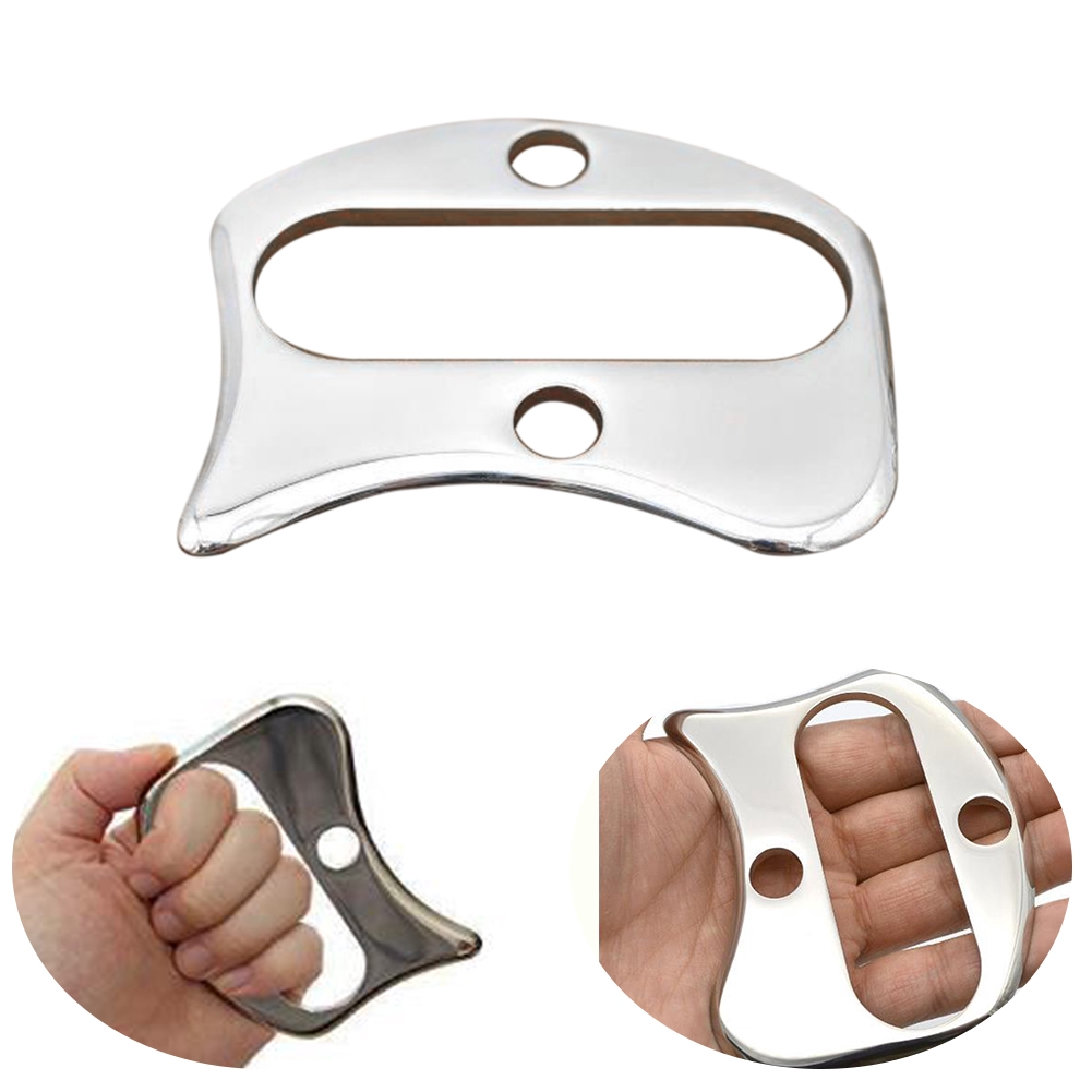 Physical Therapy Pain Relief Body Tool Handed Muscles Care Acupuncture Stainless Steel Myofascial Massager