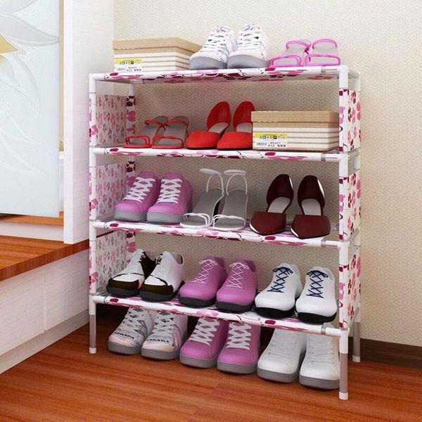combo 4 kệ giày hoa 4 tầng mẫu mới