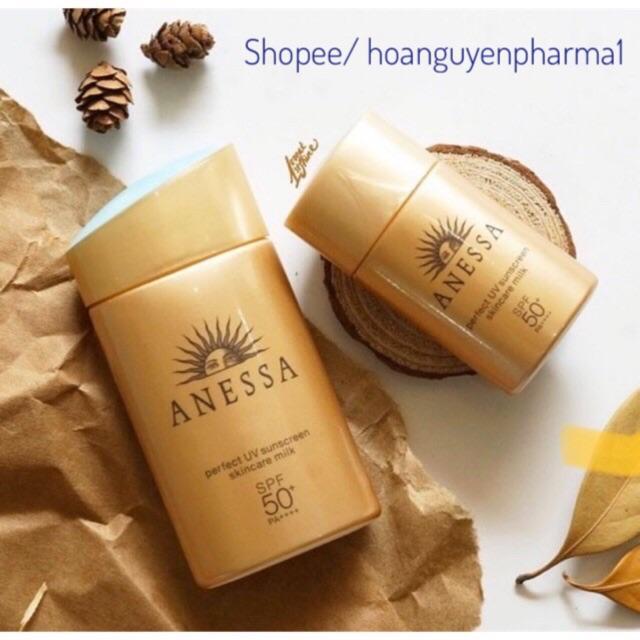 Sữa chống nắng bảo vệ hoàn hảo Anessa Perfect UV Sunscreen Skincare Milk - SPF 50+, PA++++ - 20ml (date 5/21)