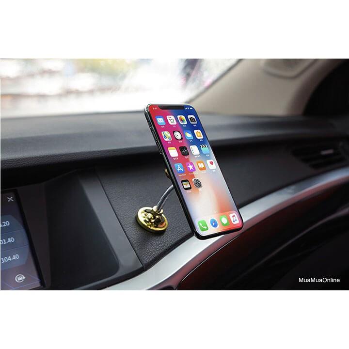 Đế hít điện thoại xoay 360 5 chấu hình hoa mai cho xe hơi siêu dính đa năng 2019