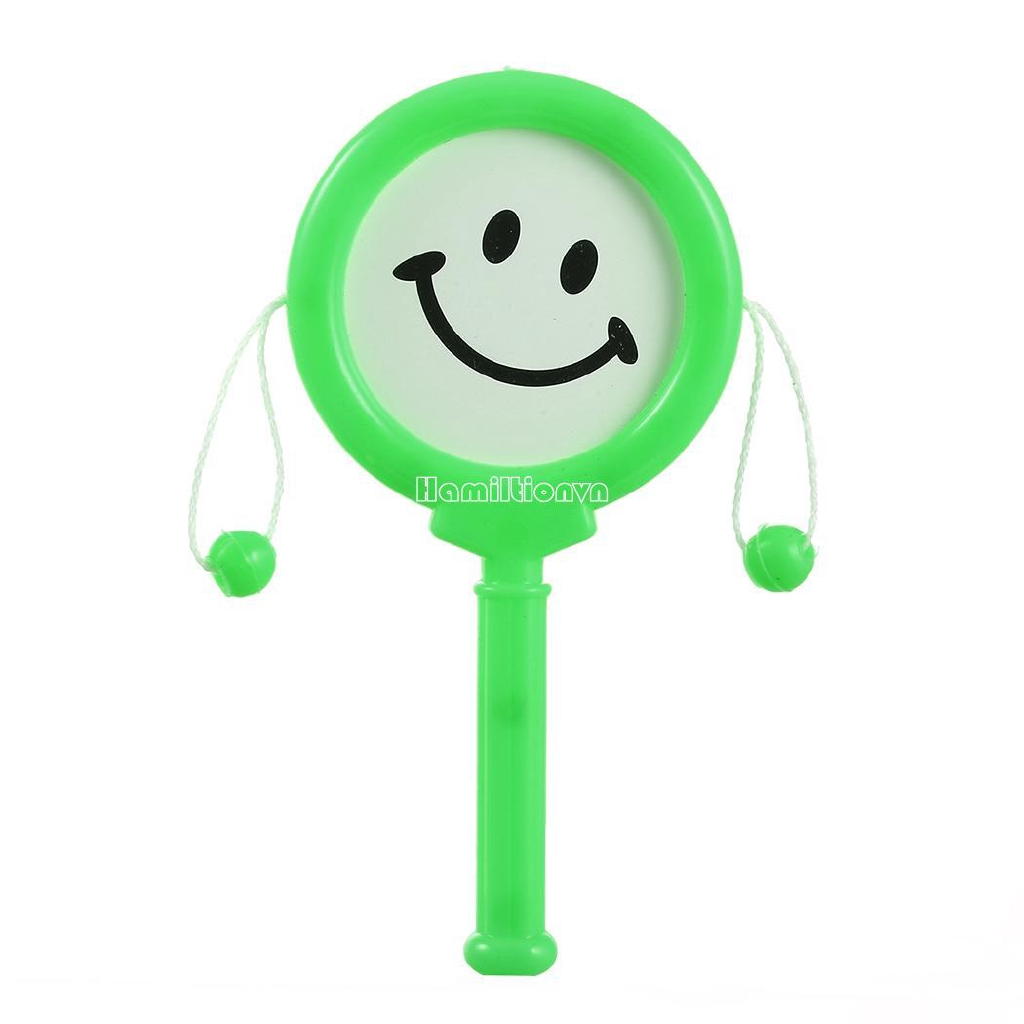 ❤COD Baby Cartoon Smile Face Hand Drums Shake Rattle Toy Kids Toys Gift