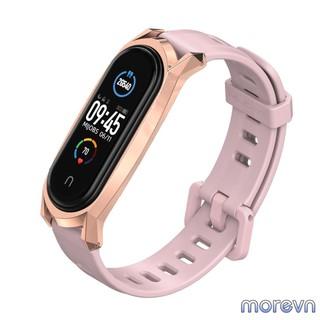 Dây đeo silicon mặt kim loại GT Mi band 4, mi band 3 chính hãng MIJOBS, dây đeo thay thế MiBand 4, 3 MIJOBS thumbnail