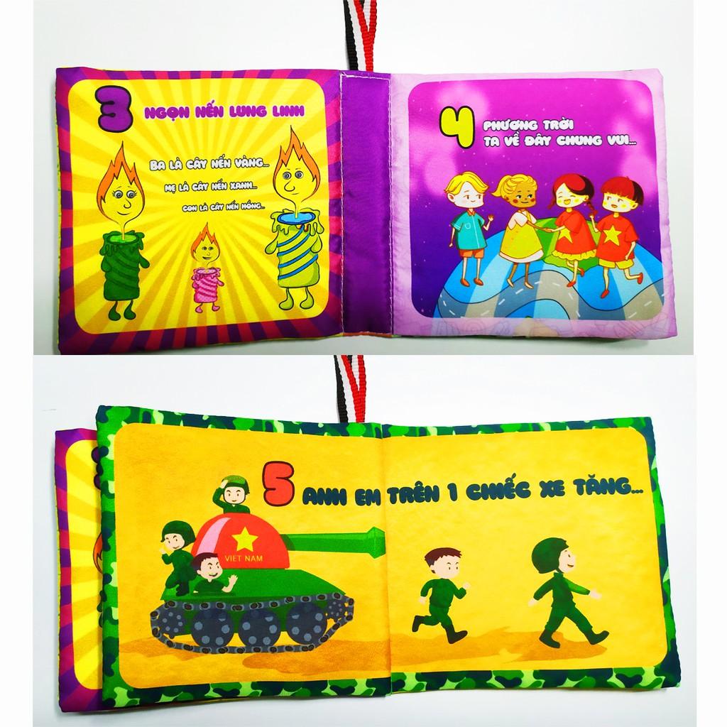 Sách vải song ngữ Việt - Anh dành cho trẻ sơ sinh Pipovietnam