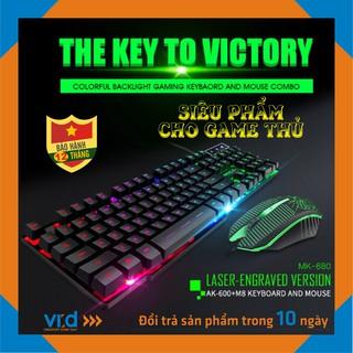 Bộ phím chuột gaming giả cơ đèn nền có dây USB KM-680, Sản phấm chính hãng - Bảo hành 12 tháng thumbnail