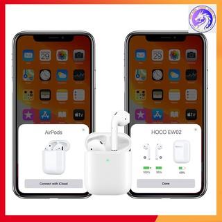 Tai Nghe Bluetooth Cảm Ứng 2 Bên TWS V5.0 Có Mic, Định Vị Hoco EW02 / Lanex LEP- W12, Chuyên Dùng Iphone - BH 12 Tháng