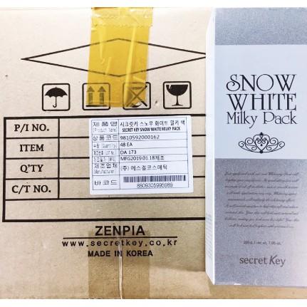 Mẫu mới, date mới] Kem Tắm Trắng Secret Key Snow White Milky Pack Hàn Quốc