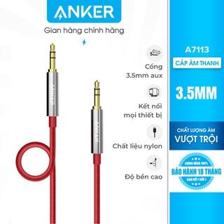 Cáp âm thanh bọc nylon ANKER 3.5mm dài 1.2m - A7113 thumbnail