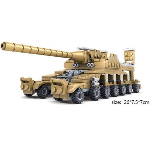 Lego KAZI lắp ghép xe tăng L84031 16in1