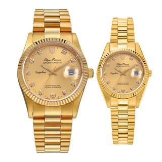 Đồng hồ đôi nam nữ dây kim loại Olym Pianus OP89322 MK OP68322 LK mặt vàng thumbnail