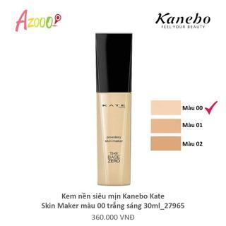 Kem nền siêu mịn Kanebo Kate Skin Maker màu 00 trắng sáng 30ml