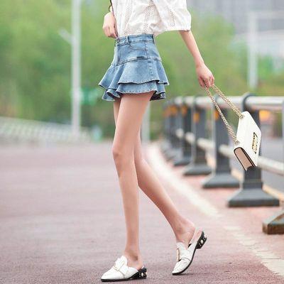 chân váy denim xếp li