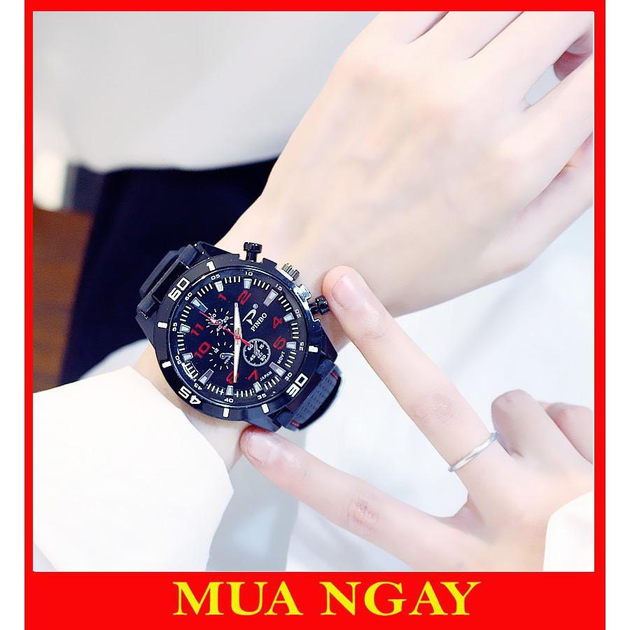 Đồng hồ nam nữ thể thao dây cao su mềm đẹp cao cấp DH82