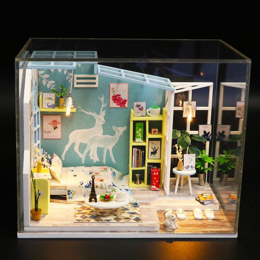 Nhà búp bê Mô hình láp ghép DIY FAMILY NAP S922
