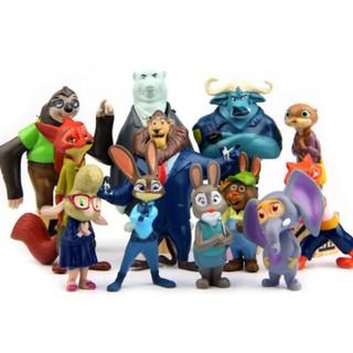 Bộ 12 tượng mô hình nhân vật phim Zootopia