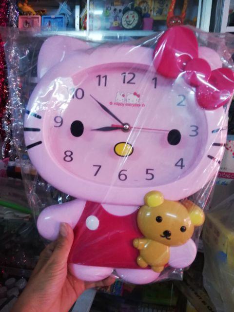 Đồng hồ treo tường hello kitty 36x28x5cm !!!