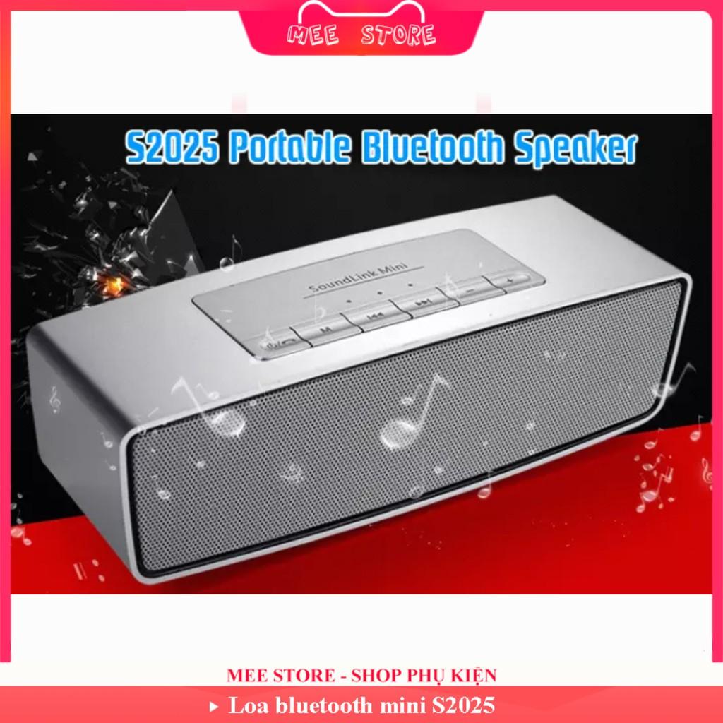 Loa bluetooth mini S2025 âm thanh cực chất, giá sốc, kết hợp thẻ nhớ, usb, jack 3.5mm - Mee Store 247