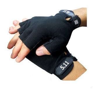 Găng tay chiến thuật 511 ngón cụt màu đen thumbnail