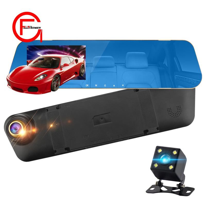 4.3 Inch Car 1080P Hd Dvr Camera Camera Rear View Mirror Dual Camera Dual Recording Driving Rec