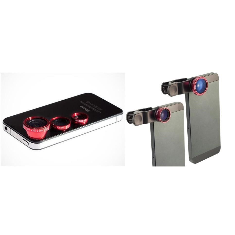 [RẺ VÔ ĐỊCH] [GIÁ RẺ] Lens Chụp Hình Điện Thoại 3 Trong 1 Chất Lượng Cao