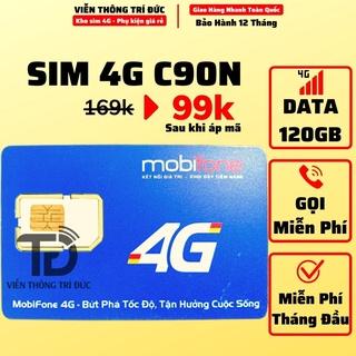 Sim 4G Mobifone C90N 4Gb/Ngày + Sim FV119 Data 180Gb Free 2 Tháng – Free Gọi – Không Giới Hạn Data – Viễn Thông Trí Đức