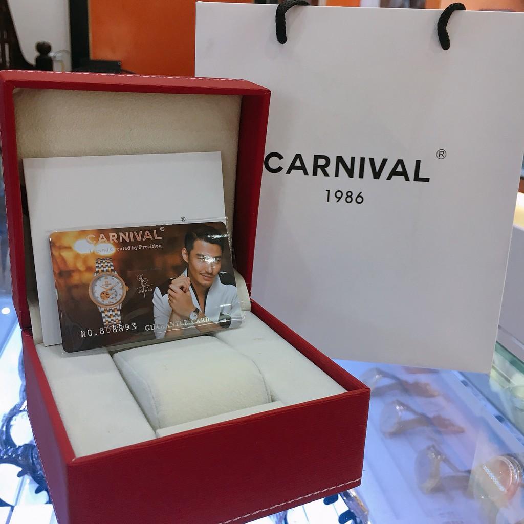 Đồng Hồ Cơ Carnival Thụy Sỹ G18301 Dây Da Nam Chính Hãng